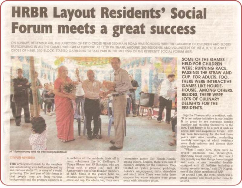 Residents Social Forum - Gathering